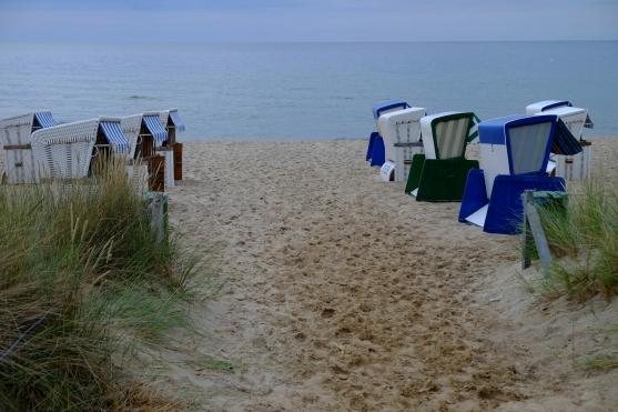 Strandkörbe auf dem Göhrener Nordstrand