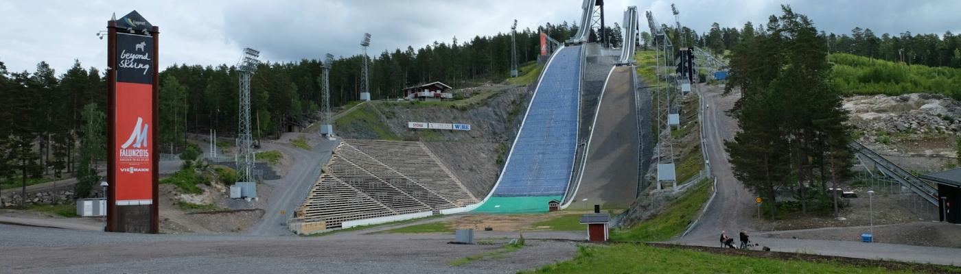 Skischanzen auf dem Freizeitareal Lugnet bei Falun