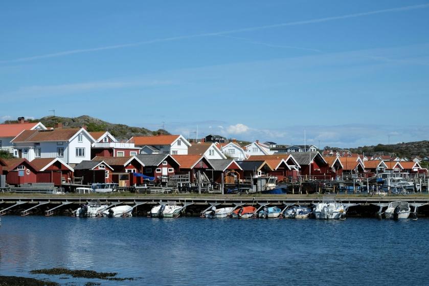 Häuser und Hafen in Stocken