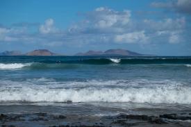 Surfer an der Playa de Famara
