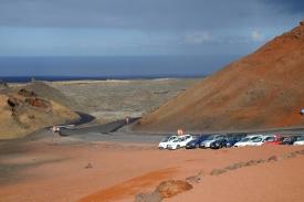 Parkplatz auf den Feuerbergen