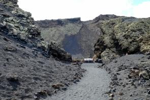 Weg in die Caldera del Cuervo