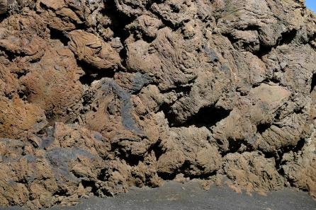 Lavaformation in der Caldera del Cuervo