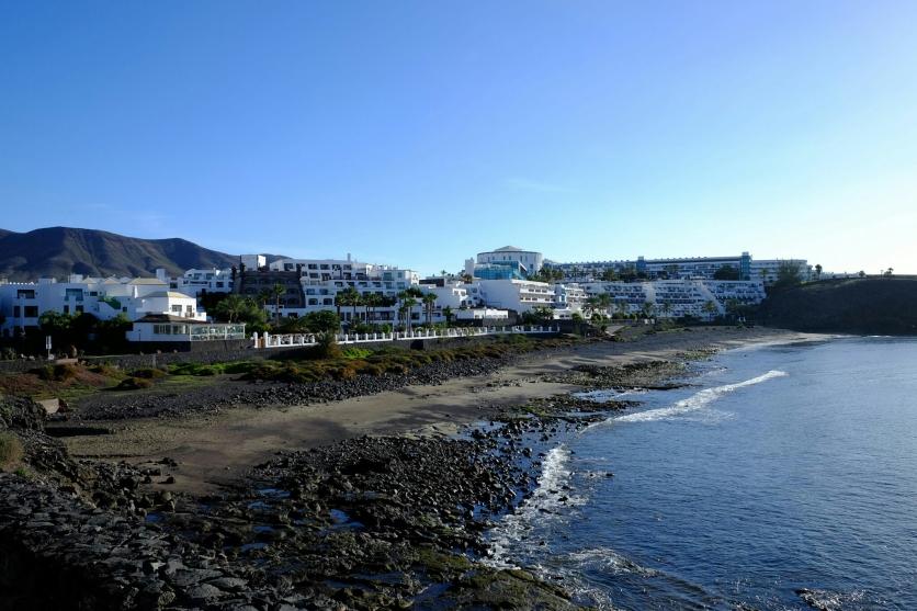 Playa de las Coloradas und Hotels Dream Castillo und Sandos Papagayo