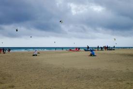 Kite-Surfer bei Los Gorriones