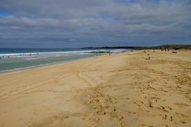 Blick vom südlichen Ende auf die Playa del Castillo