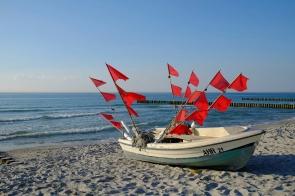 Fischerboot bei Ahrenshoop