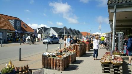 Einkaufsstrasse von Blåvand
