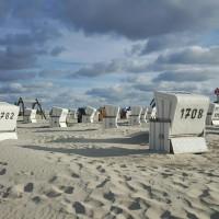 Strandkörbe am Nordstrand von Sankt Peter-Ording