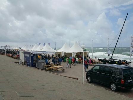 Promenade von Westerland (Verpflegungsstände der Sylt Sailing Week)