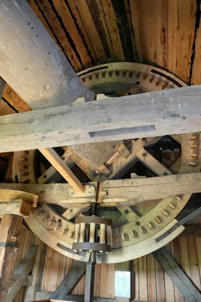 Mechanik der Bockwindmühle zu Pudagla