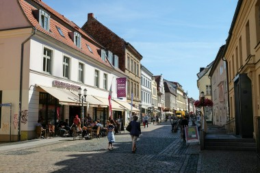 Fussgängerzone Schuhhagen in Greifswald