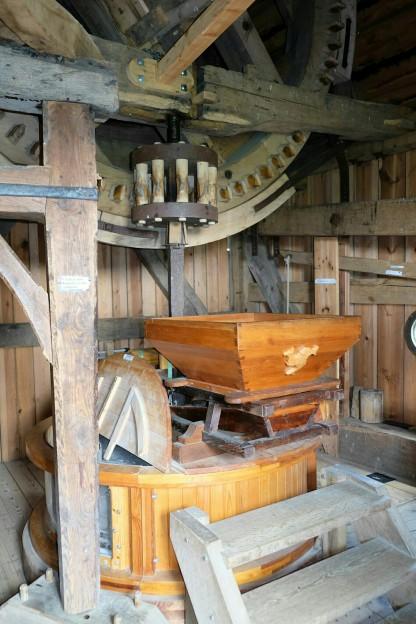 Mahlwerk der Bockwindmühle zu Pudagla