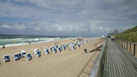 Promenade und Strand von Westereland (südlicher Teil)