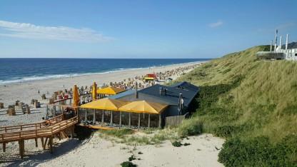 Aussicht auf den Strand an der Promenade von Wenningstedt-Braderup