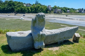 Skulptur bei Le Guildo