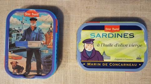 Sardinenbüchsen aus Concarneau