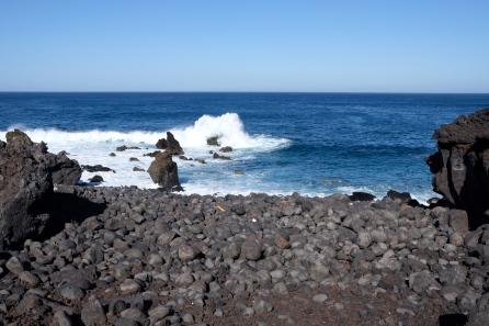 Playa del Calladito an der Küste bei Tenesar