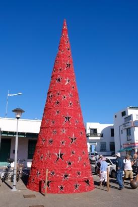 Weihnachtsbaum in Playa Blanca