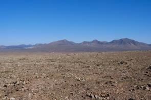 Weitsicht von der Montaña Roja auf Berge bei Femes