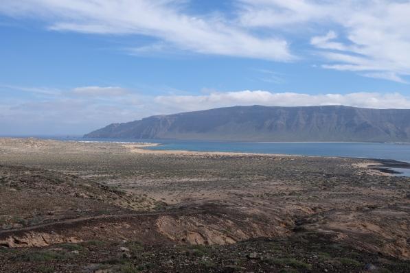 Blick von La Graciosa auf Risco de Famara