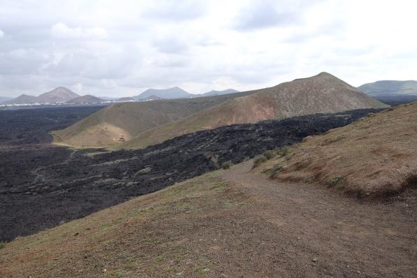 Lavafluss bei Caldera Blanca