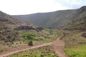 Krateröffnung der Montañeta Caldereta
