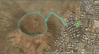 Rund um den Krater der Montaña Roja