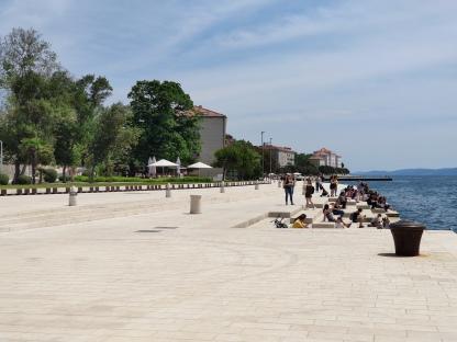 Promenade von Zadar mit Meeresorgel
