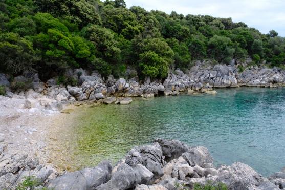 Bucht beim Olivengarten von Lun (Insel Pag)