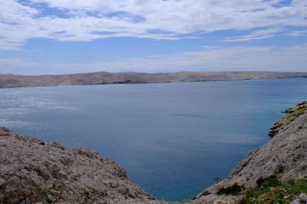 Ausblick von Insel Pag