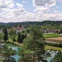 Ausblick auf Musikinsel und Rheinau
