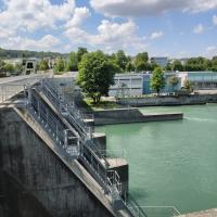 Stauwehr des Kraftwerks bei Bremgarten