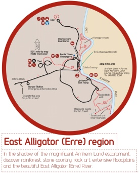 East Alligator (Erre) Region Map