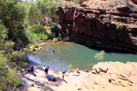 Plunge Pool der Fortescue Falls
