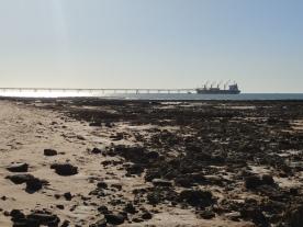 Pier für Meersalz in Onslow