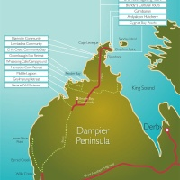 Karte Dampier Peninsula