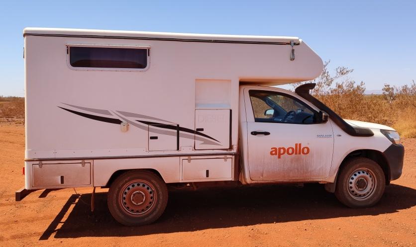 Dreckiger Camper in Pilbara Pink