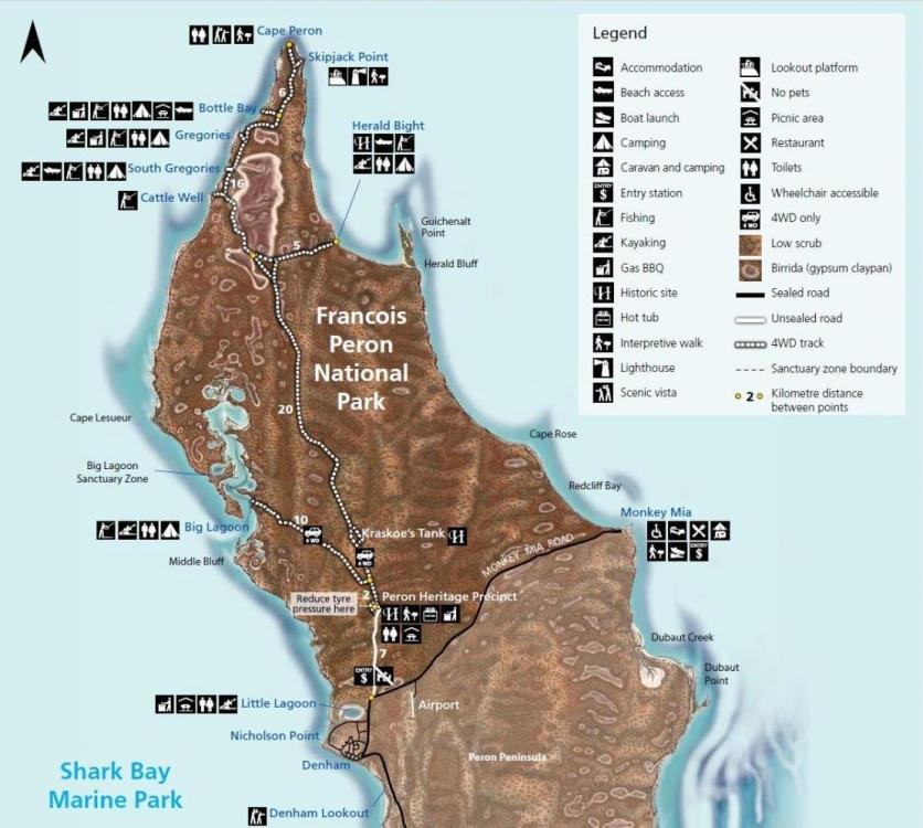 Karte des François Peron NP