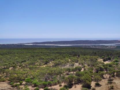 Aussicht über die Mündung des Murchison Rivers