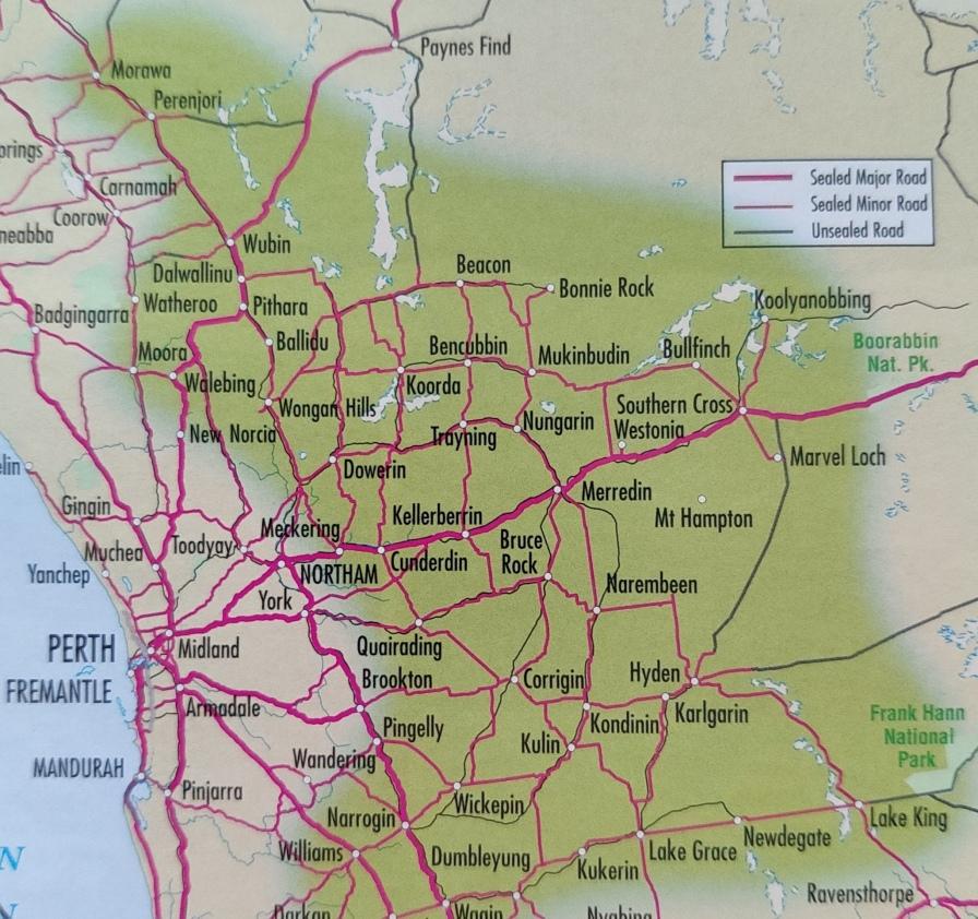 Wheatbelt rund um Perth