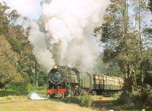 Dampfzug 1213 verlässt Pemberton (08-2005)