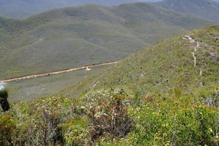Ausblick vom Weg auf den Mount Hassel