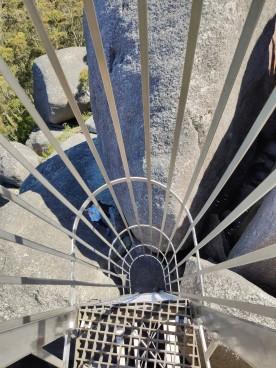 Leiter zum Granite Skywalk