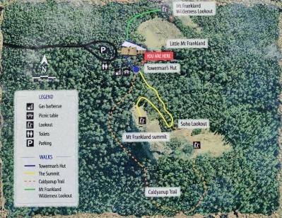 Mount Frankland Karte