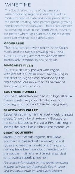 Weinregionen SW-Australiens