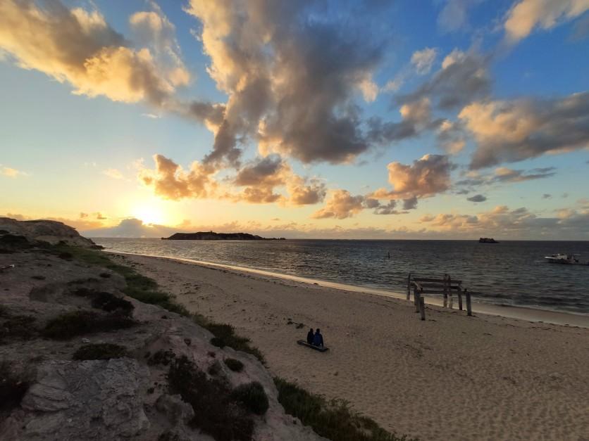 Hamelin Bay im Abendlicht