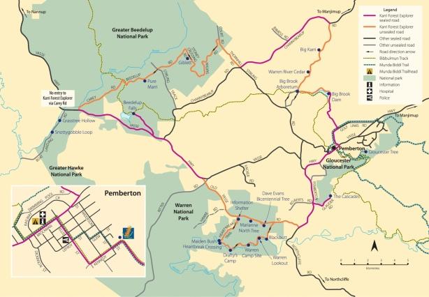 Karri Forest Eplorer Karte