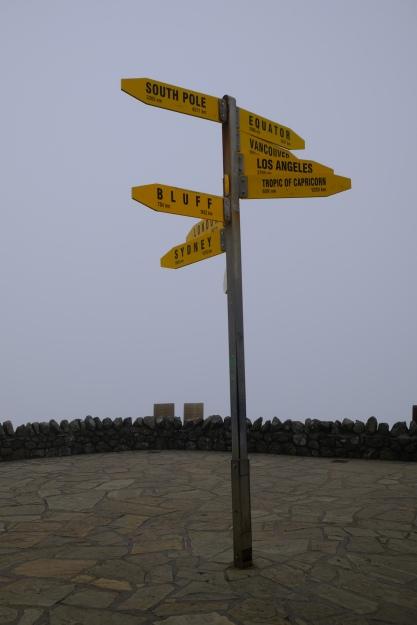 Wegweiser auf Cape Reinga