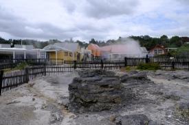 Dampfschwaden in Whakarewarewa